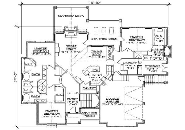 Country Floor Plan - Main Floor Plan Plan #5-311
