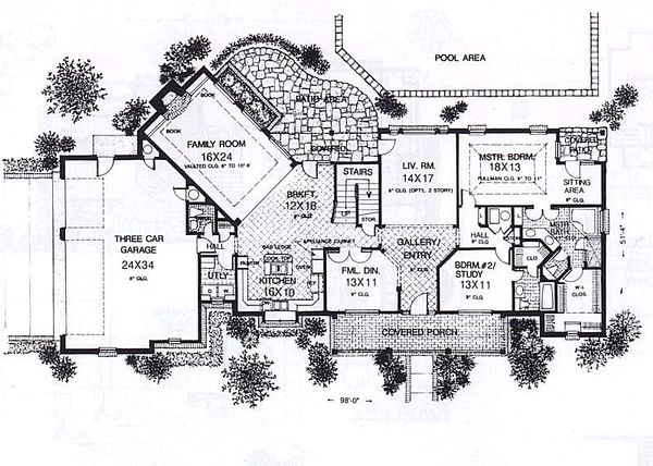 Colonial Floor Plan - Main Floor Plan #310-915