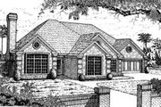European Style House Plan - 3 Beds 2 Baths 2140 Sq/Ft Plan #310-115 Exterior - Front Elevation