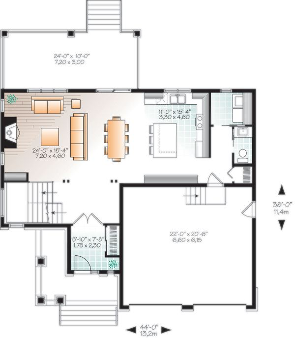 Craftsman Floor Plan - Main Floor Plan Plan #23-2704
