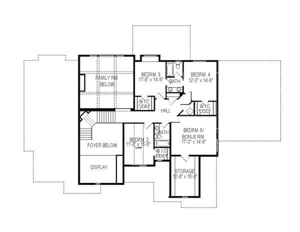 European Floor Plan - Upper Floor Plan Plan #920-86