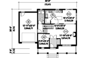 Contemporary Style House Plan - 3 Beds 1.5 Baths 2080 Sq/Ft Plan #25-4309 Floor Plan - Main Floor Plan