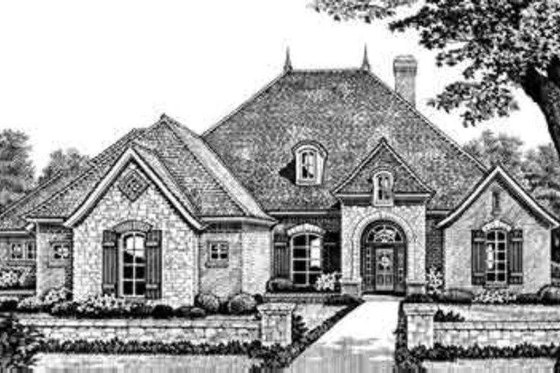 European Style House Plan - 4 Beds 3.5 Baths 2760 Sq/Ft Plan #310-275