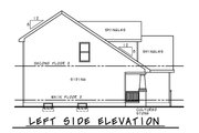 Craftsman Style House Plan - 4 Beds 3 Baths 1554 Sq/Ft Plan #20-2353 Exterior - Other Elevation
