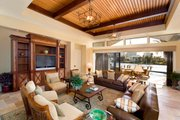 Mediterranean Style House Plan - 4 Beds 4.5 Baths 4730 Sq/Ft Plan #548-2 Interior - Family Room