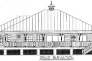 Cottage Style House Plan - 3 Beds 3 Baths 2112 Sq/Ft Plan #115-132 Exterior - Rear Elevation