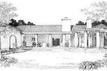 House Blueprint - Mediterranean Exterior - Rear Elevation Plan #72-161