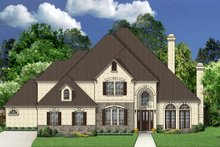 Dream House Plan - European Exterior - Front Elevation Plan #84-423