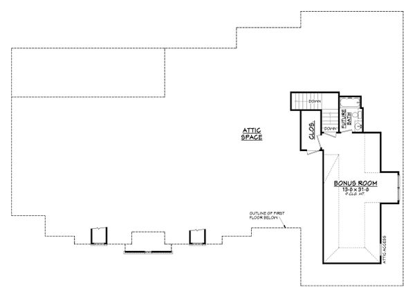European Floor Plan - Upper Floor Plan Plan #430-128