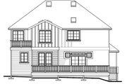 European Style House Plan - 4 Beds 3 Baths 3267 Sq/Ft Plan #487-5 Exterior - Rear Elevation
