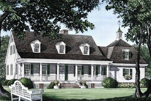Architectural House Design - Country Exterior - Front Elevation Plan #137-109