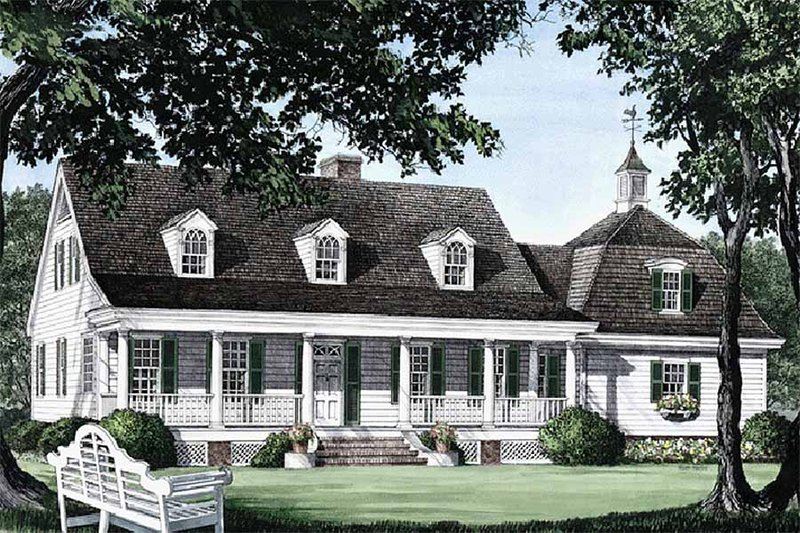 Country Exterior - Front Elevation Plan #137-109 - Houseplans.com
