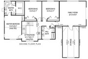 Country Style House Plan - 4 Beds 2.5 Baths 2989 Sq/Ft Plan #11-228 Floor Plan - Upper Floor Plan