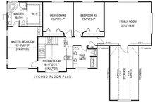 Country Floor Plan - Upper Floor Plan Plan #11-228