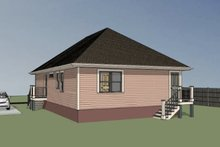 Dream House Plan - Cottage Exterior - Rear Elevation Plan #79-114