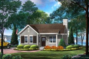 Cottage Exterior - Front Elevation Plan #22-572