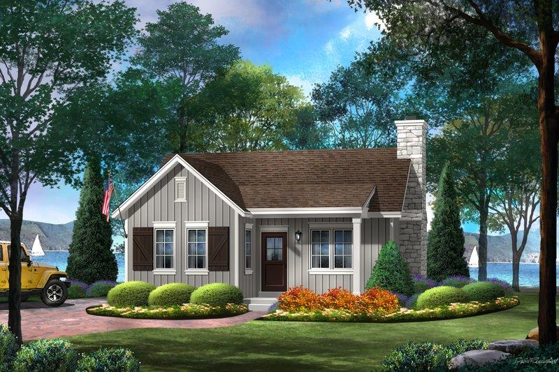 House Plan Design - Cottage Exterior - Front Elevation Plan #22-572