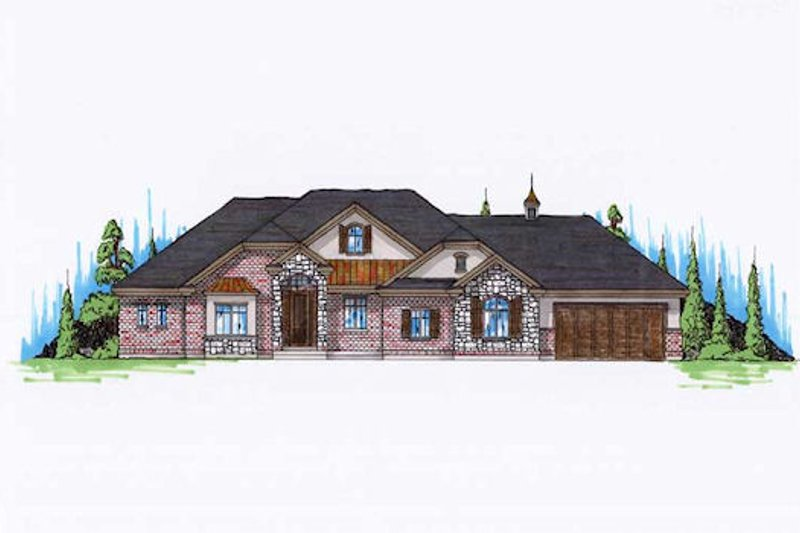 House Plan Design - Traditional Exterior - Front Elevation Plan #5-292