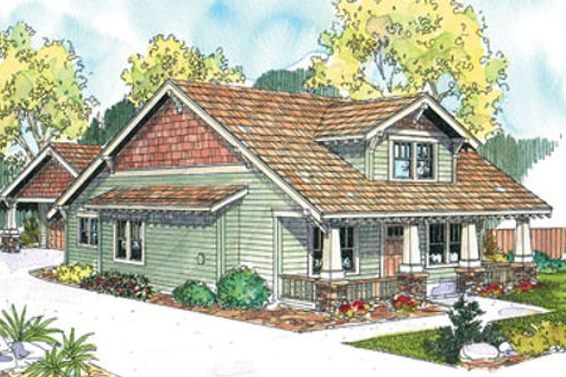 Craftsman Exterior - Front Elevation Plan #124-669