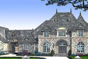 European Style House Plan - 5 Beds 8 Baths 6274 Sq/Ft Plan #310-352 Exterior - Front Elevation