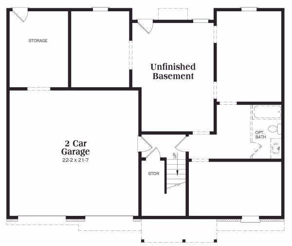 Home Plan - Colonial Floor Plan - Lower Floor Plan #419-120