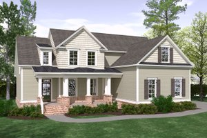 Dream House Plan - Farmhouse Exterior - Front Elevation Plan #1071-18