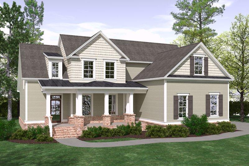 Architectural House Design - Farmhouse Exterior - Front Elevation Plan #1071-18