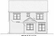 Traditional Style House Plan - 4 Beds 2.5 Baths 2257 Sq/Ft Plan #20-2346 Exterior - Rear Elevation