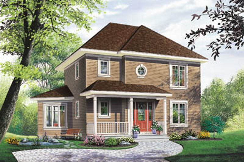 Traditional Style House Plan - 3 Beds 2 Baths 1662 Sq/Ft Plan #23-265 Exterior - Front Elevation