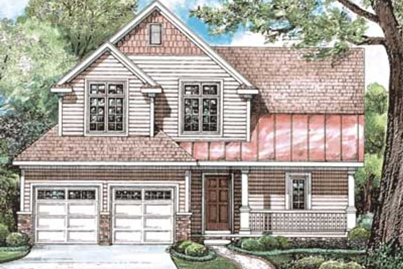 Dream House Plan - Farmhouse Exterior - Front Elevation Plan #20-1407