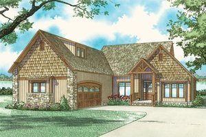 Country Exterior - Front Elevation Plan #17-2219