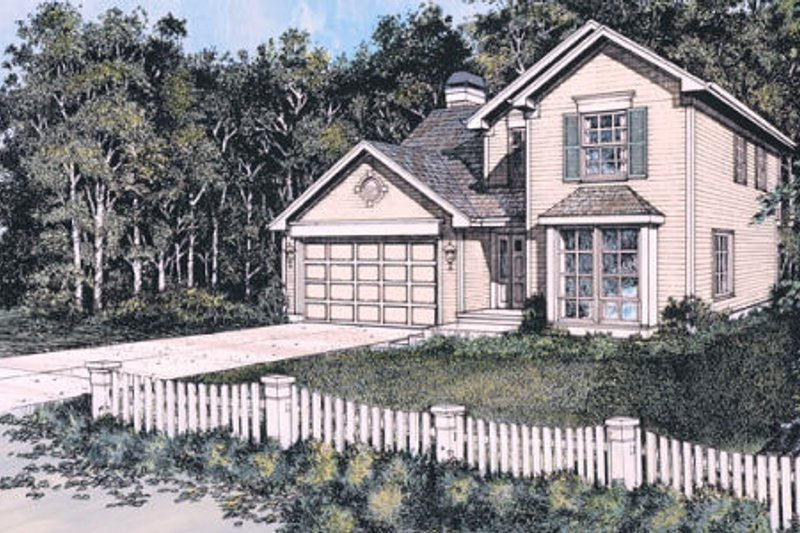 Traditional Exterior - Front Elevation Plan #48-305