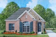 European Style House Plan - 3 Beds 2 Baths 1340 Sq/Ft Plan #424-41 Exterior - Front Elevation