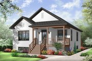 Country Style House Plan - 2 Beds 1 Baths 1017 Sq/Ft Plan #23-2377 Exterior - Front Elevation