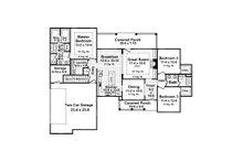 European Floor Plan - Main Floor Plan Plan #21-373
