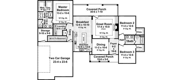 European Floor Plan - Main Floor Plan Plan #21-373