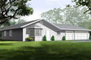 Mediterranean Style House Plan - 3 Beds 2 Baths 1341 Sq/Ft Plan #1-1194 Exterior - Front Elevation