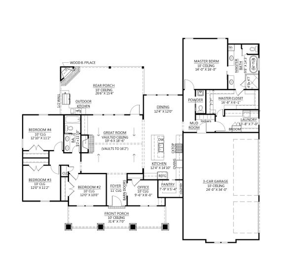 Home Plan - Farmhouse Floor Plan - Main Floor Plan #1074-32
