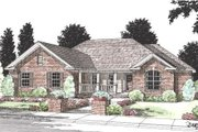 Country Style House Plan - 4 Beds 2 Baths 1539 Sq/Ft Plan #20-193 Exterior - Front Elevation