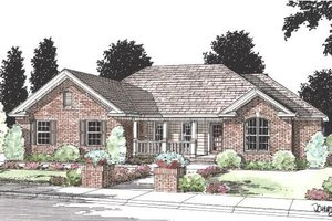 Dream House Plan - Country Exterior - Front Elevation Plan #20-193
