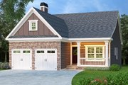 Cottage Style House Plan - 3 Beds 2 Baths 1592 Sq/Ft Plan #419-135 Exterior - Front Elevation