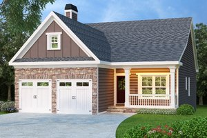 Cottage Exterior - Front Elevation Plan #419-135