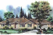 Ranch Exterior - Front Elevation Plan #18-119