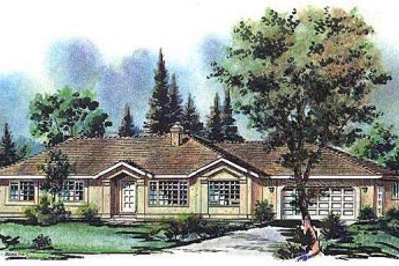 House Blueprint - Ranch Exterior - Front Elevation Plan #18-119