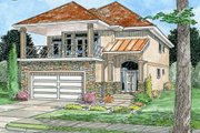 European Style House Plan - 5 Beds 3.5 Baths 2811 Sq/Ft Plan #126-150 Exterior - Front Elevation