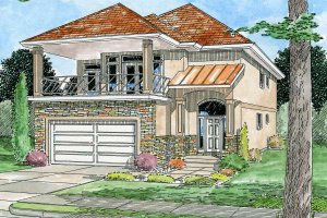 European Exterior - Front Elevation Plan #126-150