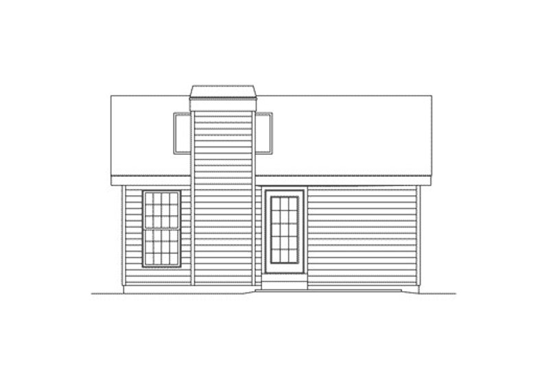 Cottage Exterior - Rear Elevation Plan #57-267 - Houseplans.com