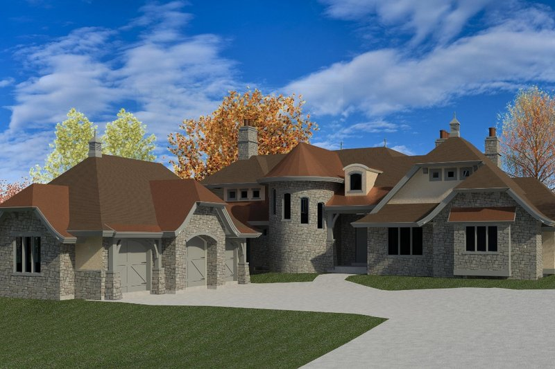 European Exterior - Front Elevation Plan #920-62