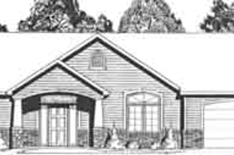Ranch Style House Plan - 5 Beds 2.5 Baths 2072 Sq/Ft Plan #58-183 Exterior - Front Elevation