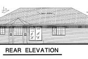 Ranch Style House Plan - 3 Beds 2 Baths 1719 Sq/Ft Plan #18-101 Exterior - Rear Elevation